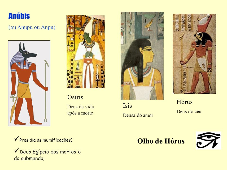 Presidia às mumificações; Olho de Hórus
