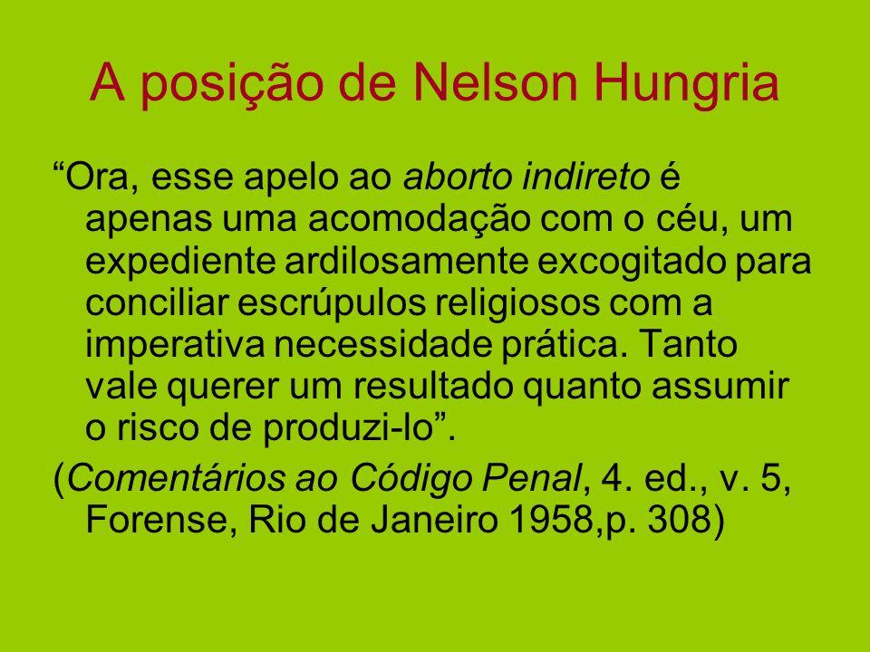 A posição de Nelson Hungria
