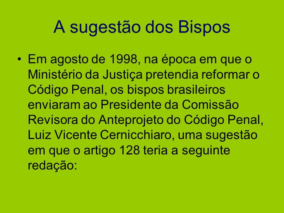A sugestão dos Bispos