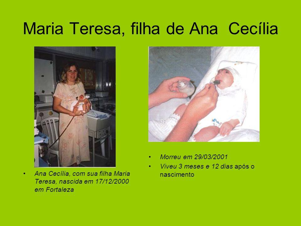 Maria Teresa, filha de Ana Cecília