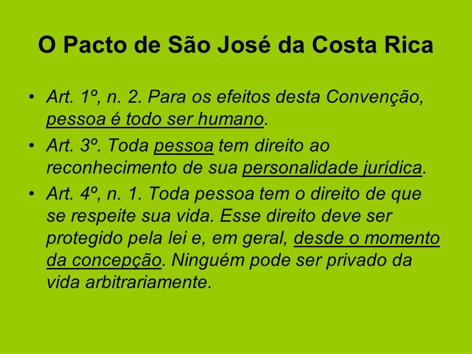 O Pacto de São José da Costa Rica