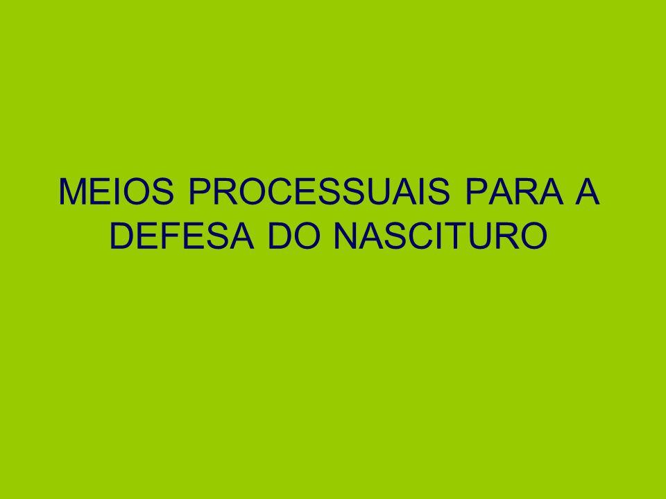 MEIOS PROCESSUAIS PARA A DEFESA DO NASCITURO