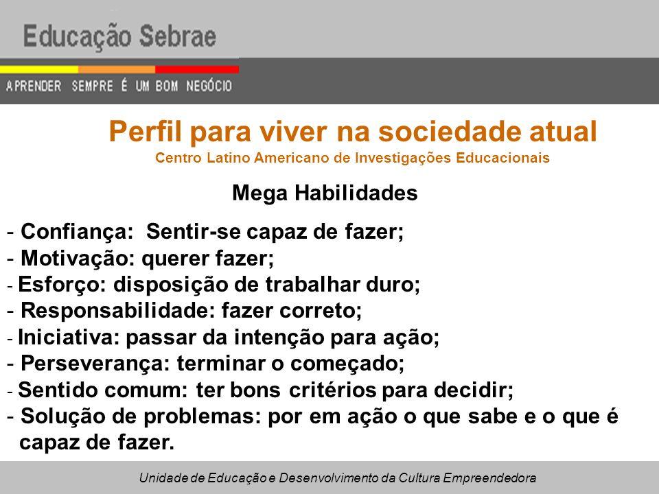 Perfil para viver na sociedade atual Centro Latino Americano de Investigações Educacionais