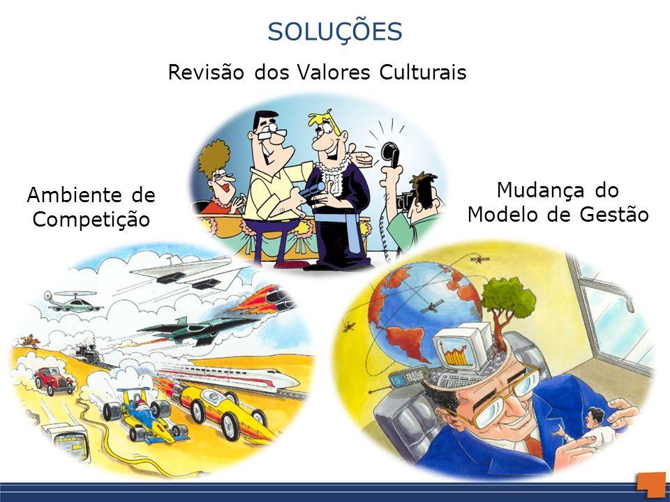 SOLUÇÕES Revisão dos Valores Culturais Mudança do