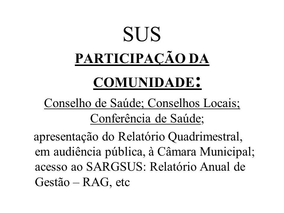 PARTICIPAÇÃO DA COMUNIDADE:
