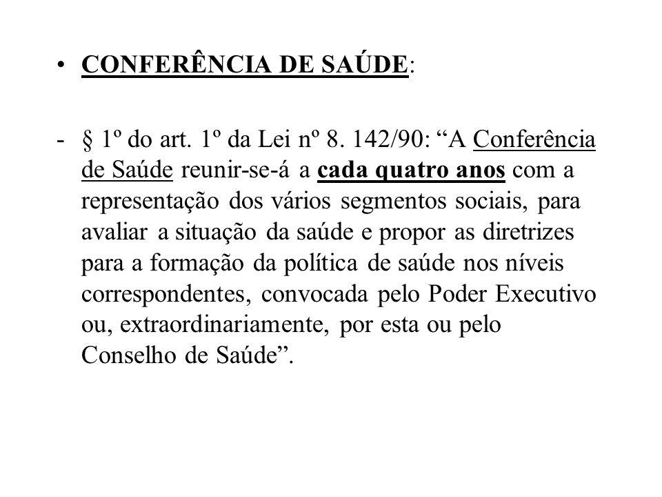CONFERÊNCIA DE SAÚDE: