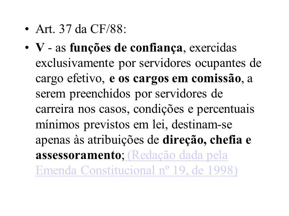 Art. 37 da CF/88: