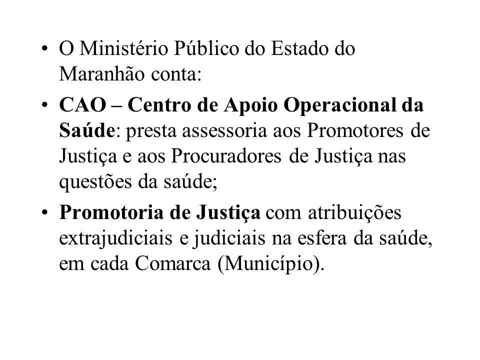 O Ministério Público do Estado do Maranhão conta: