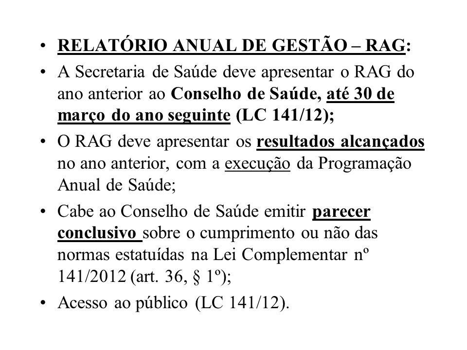 RELATÓRIO ANUAL DE GESTÃO – RAG: