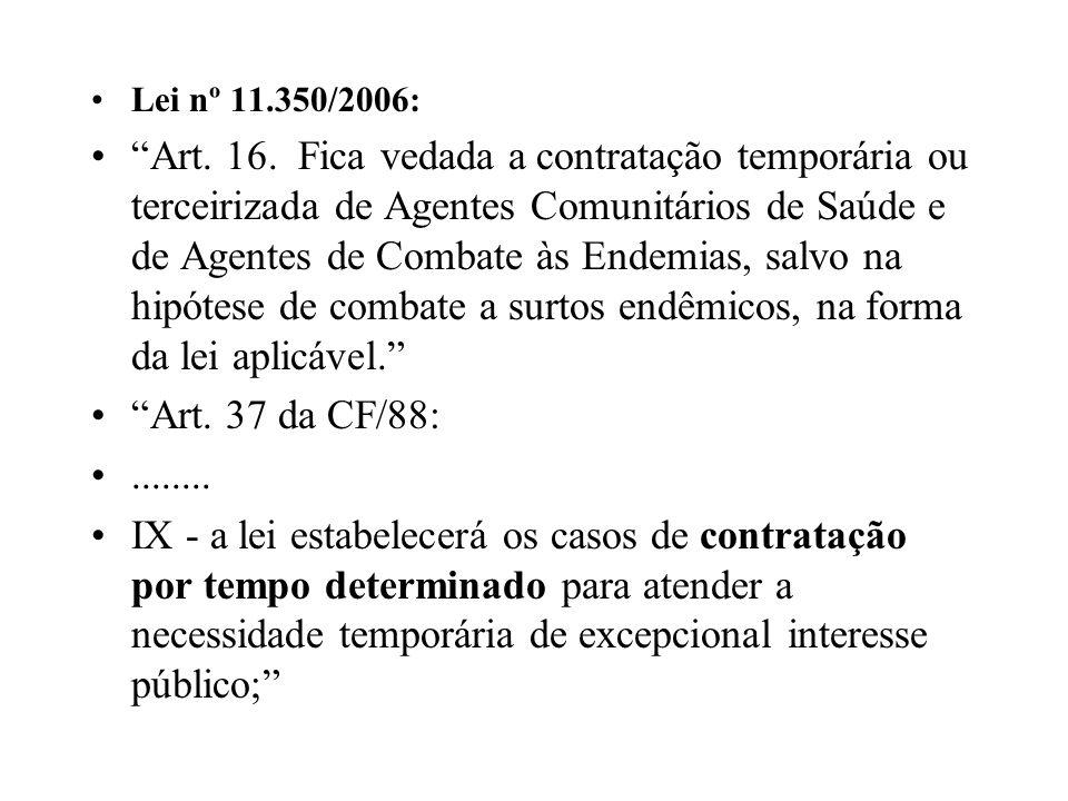 Lei nº 11.350/2006: