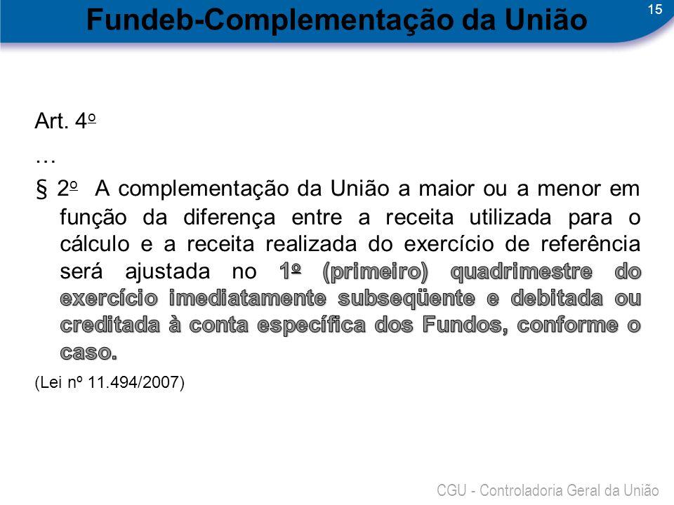 Fundeb-Complementação da União