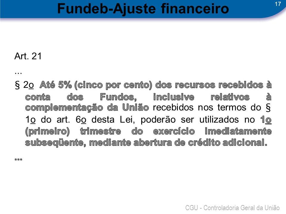 Fundeb-Ajuste financeiro