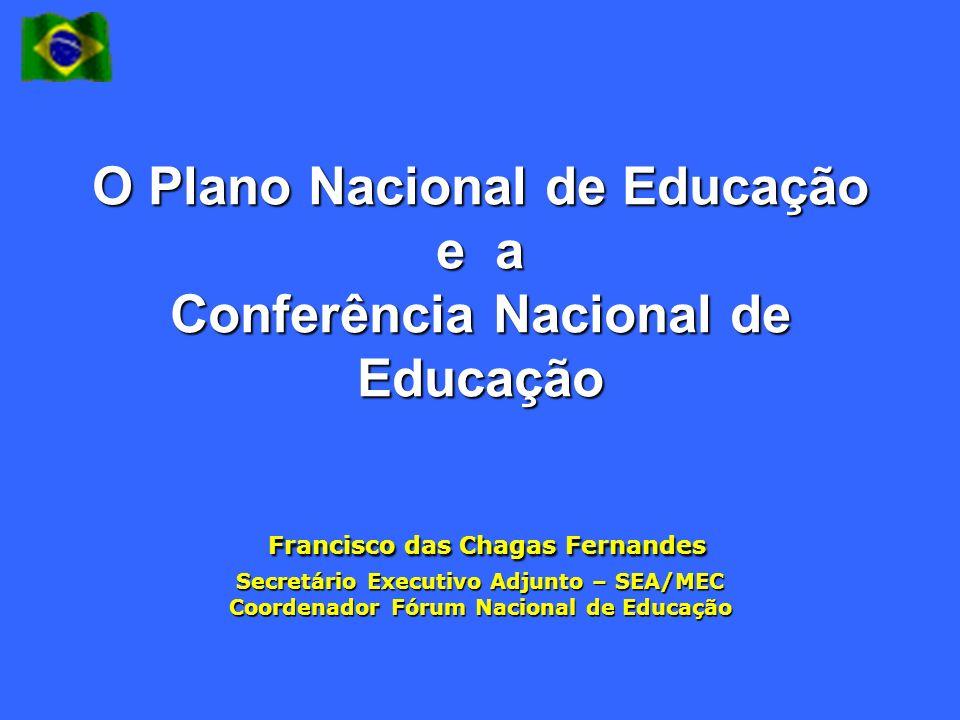 O Plano Nacional de Educação e a Conferência Nacional de Educação