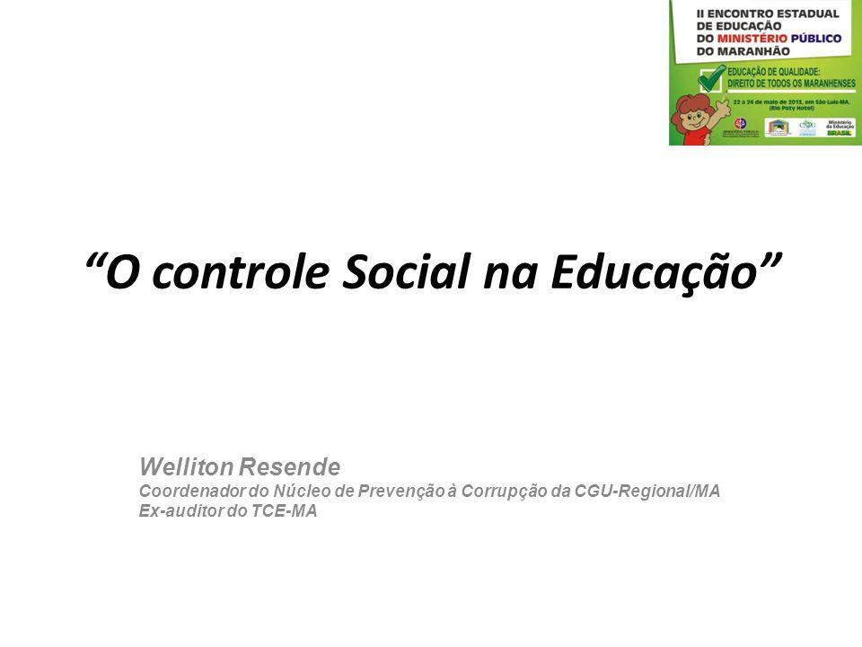 O controle Social na Educação