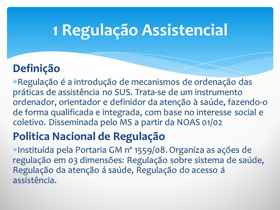 1 Regulação Assistencial