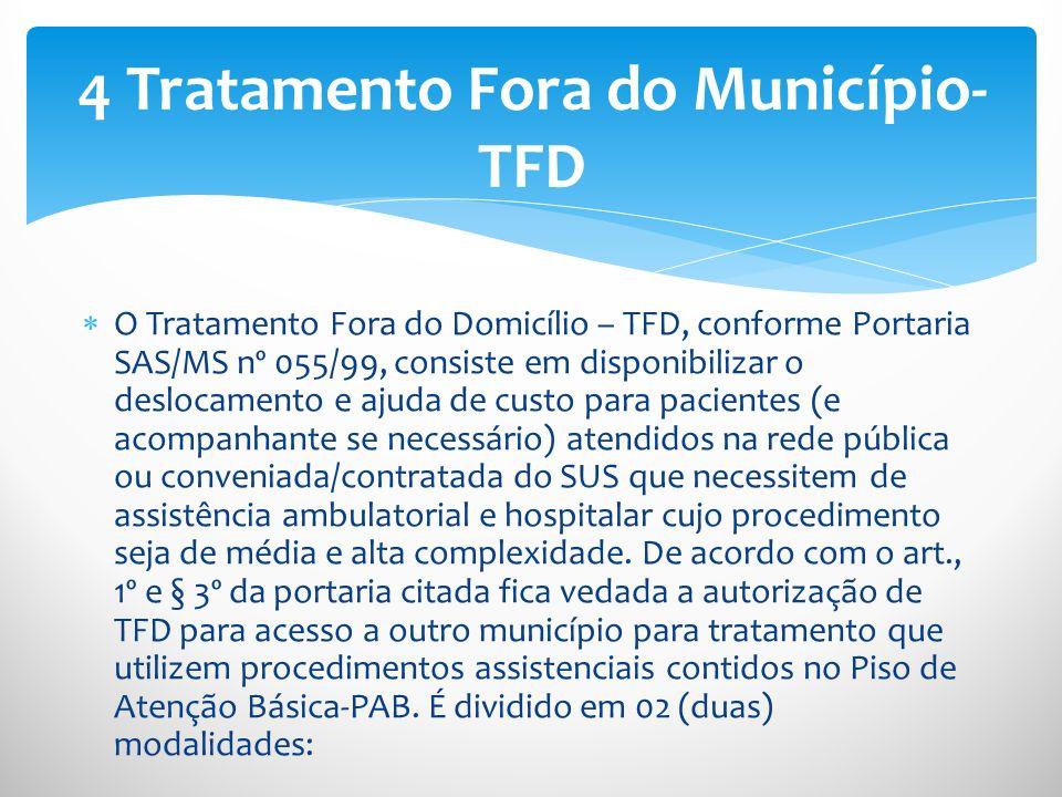 4 Tratamento Fora do Município-TFD