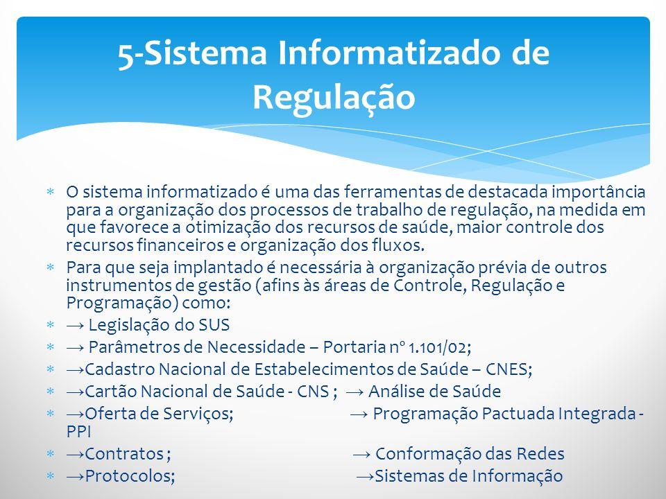 5-Sistema Informatizado de Regulação