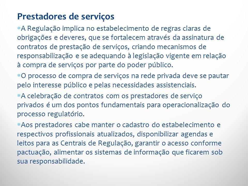 Prestadores de serviços