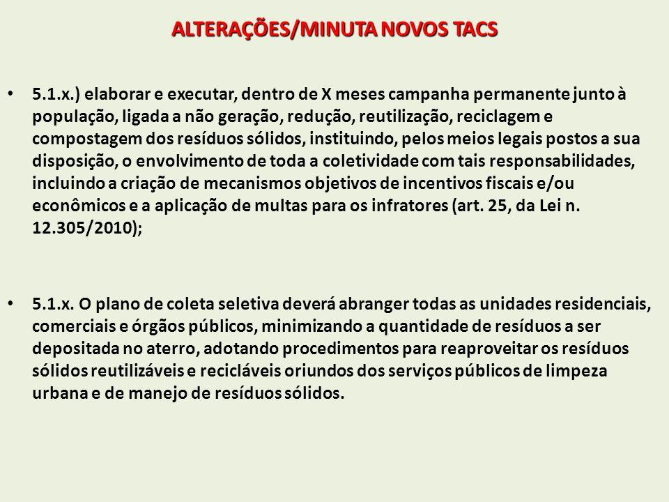 ALTERAÇÕES/MINUTA NOVOS TACS