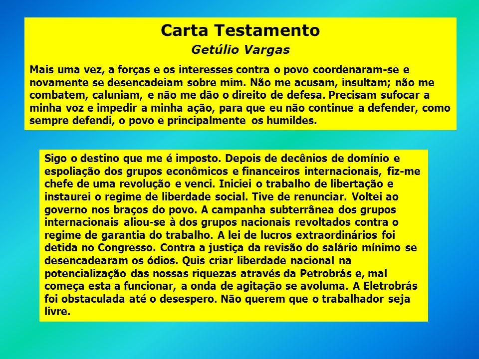 Carta Testamento Getúlio Vargas