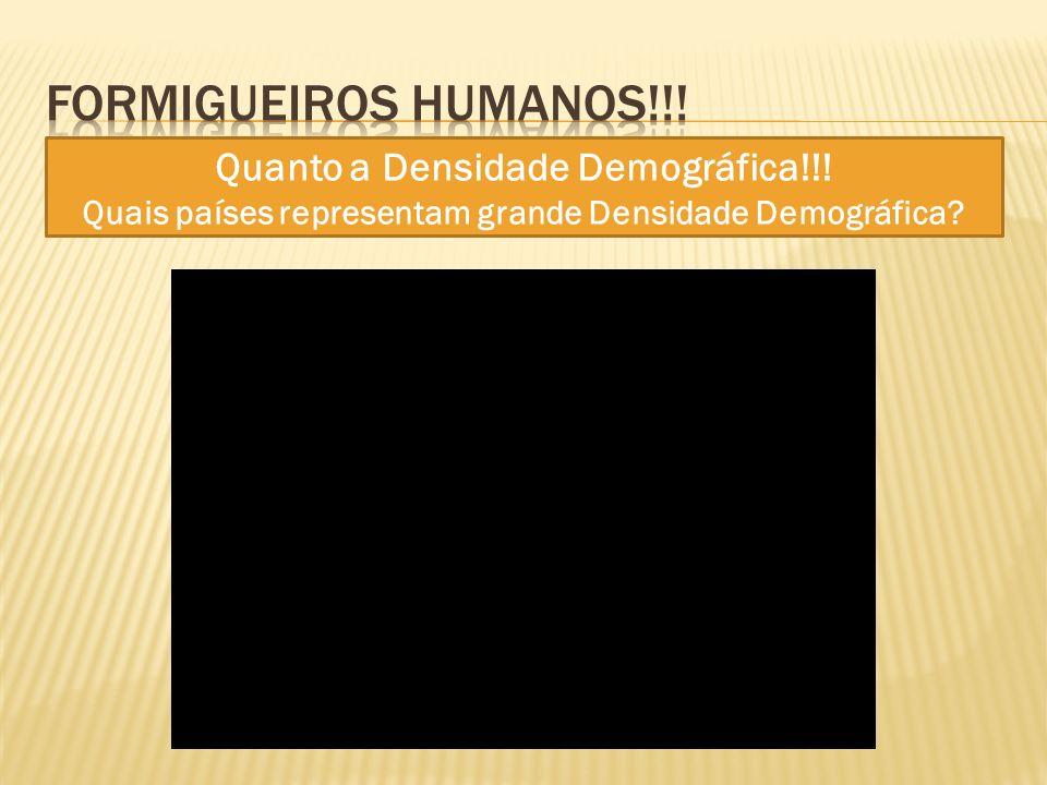Formigueiros humanos!!! Quanto a Densidade Demográfica!!!