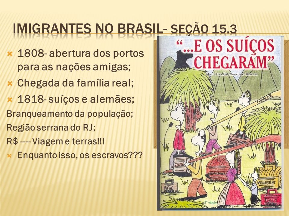 Imigrantes no brasil- seção 15.3