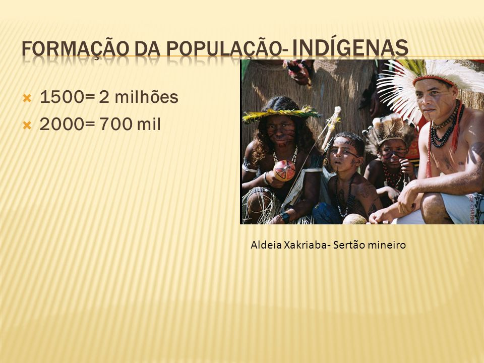 Formação da população- indígenas