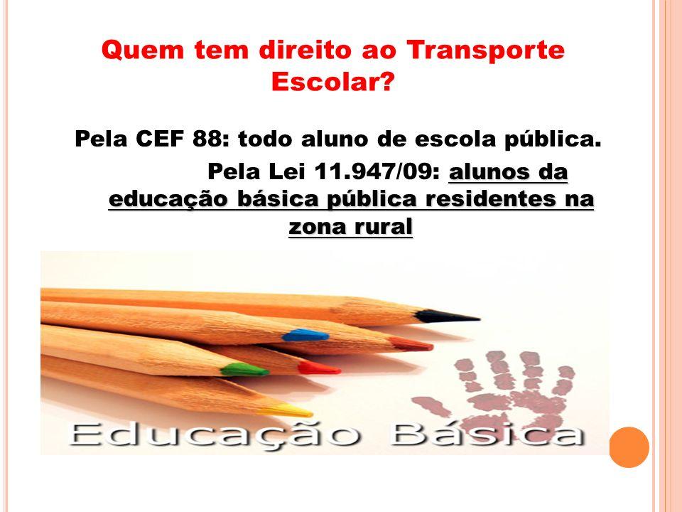 Quem tem direito ao Transporte Escolar
