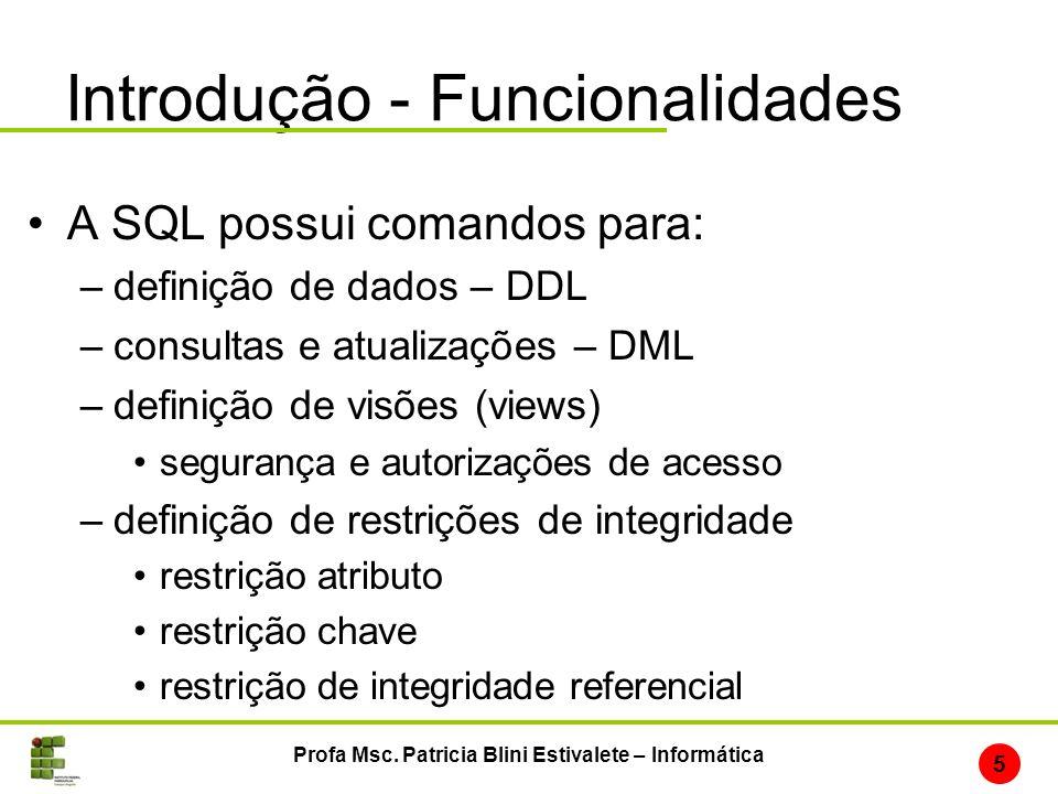 Introdução - Funcionalidades