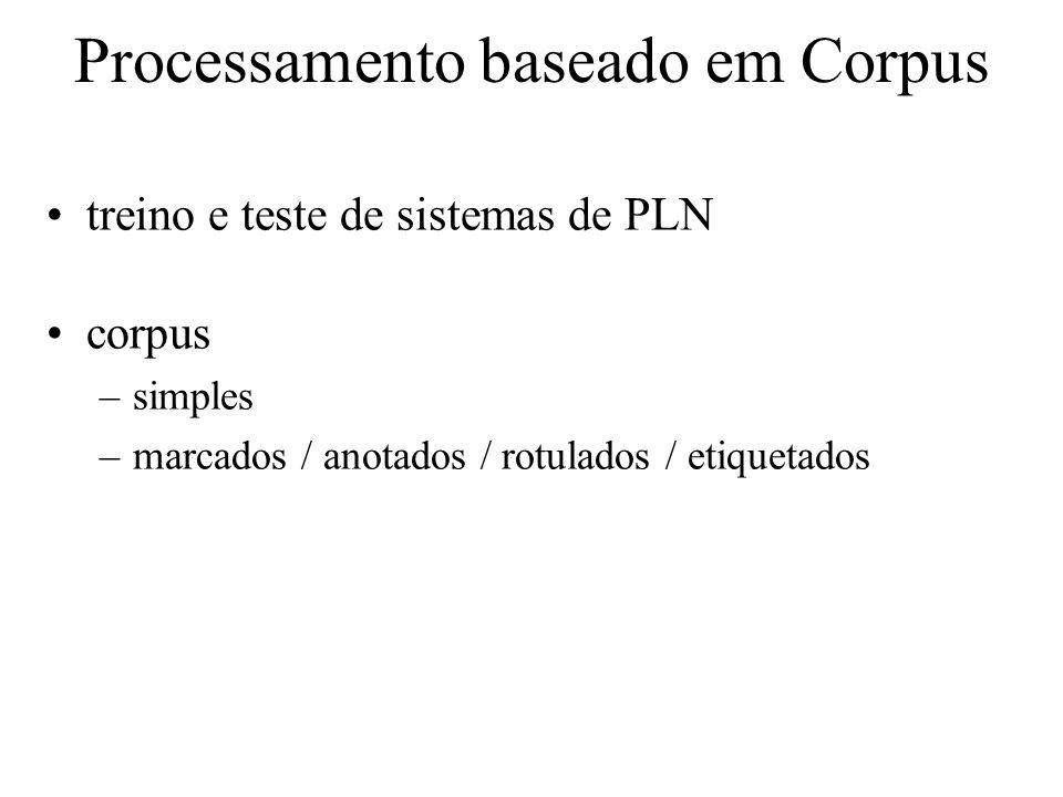 Processamento baseado em Corpus
