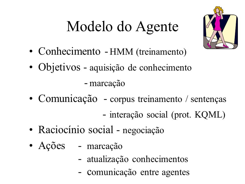 Modelo do Agente Conhecimento - HMM (treinamento)