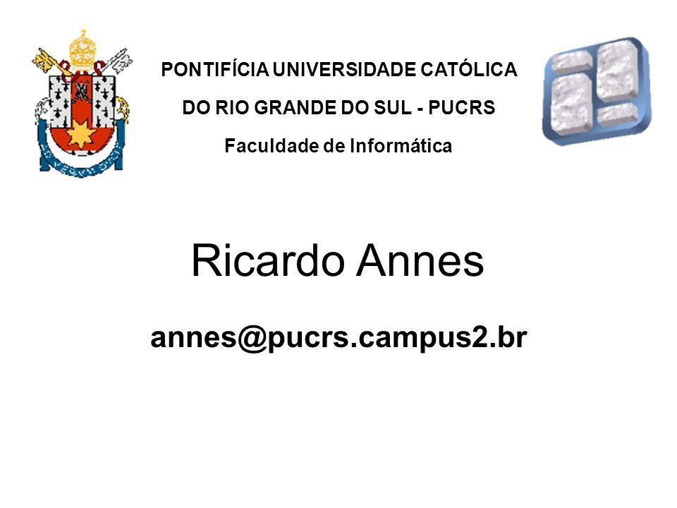 Ricardo Annes annes@pucrs.campus2.br PONTIFÍCIA UNIVERSIDADE CATÓLICA
