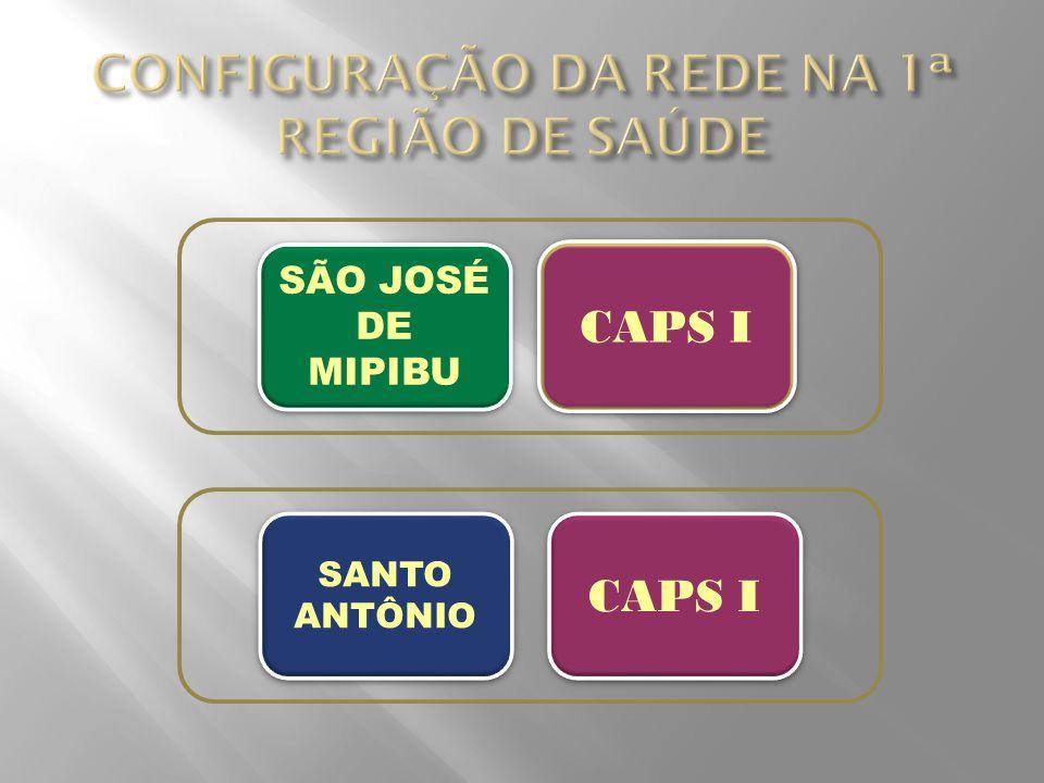 CONFIGURAÇÃO DA REDE NA 1ª REGIÃO DE SAÚDE