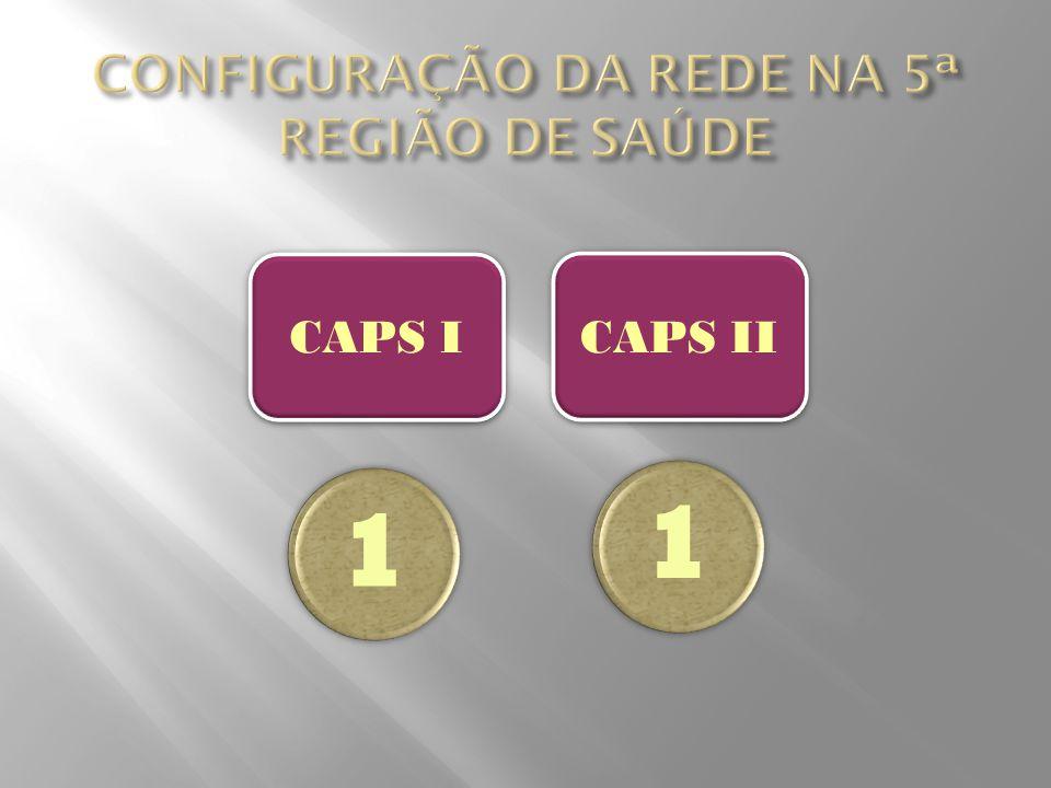 CONFIGURAÇÃO DA REDE NA 5ª REGIÃO DE SAÚDE