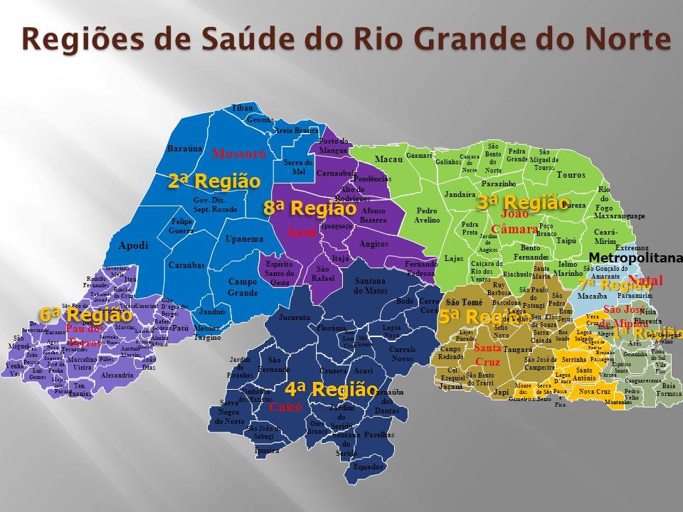 Regiões de Saúde do Rio Grande do Norte