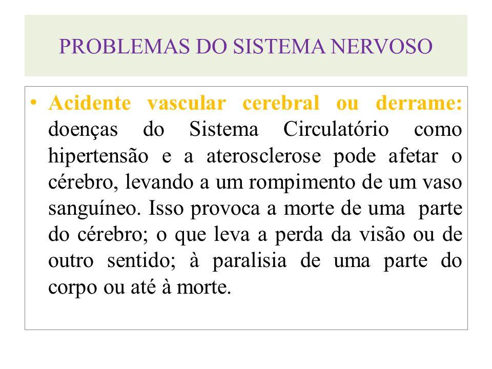 PROBLEMAS DO SISTEMA NERVOSO