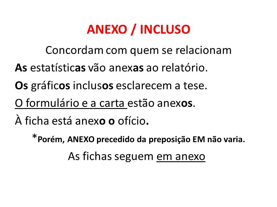 ANEXO / INCLUSO