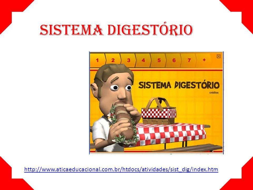 SISTEMA DIGESTÓRIO http://www.aticaeducacional.com.br/htdocs/atividades/sist_dig/index.htm