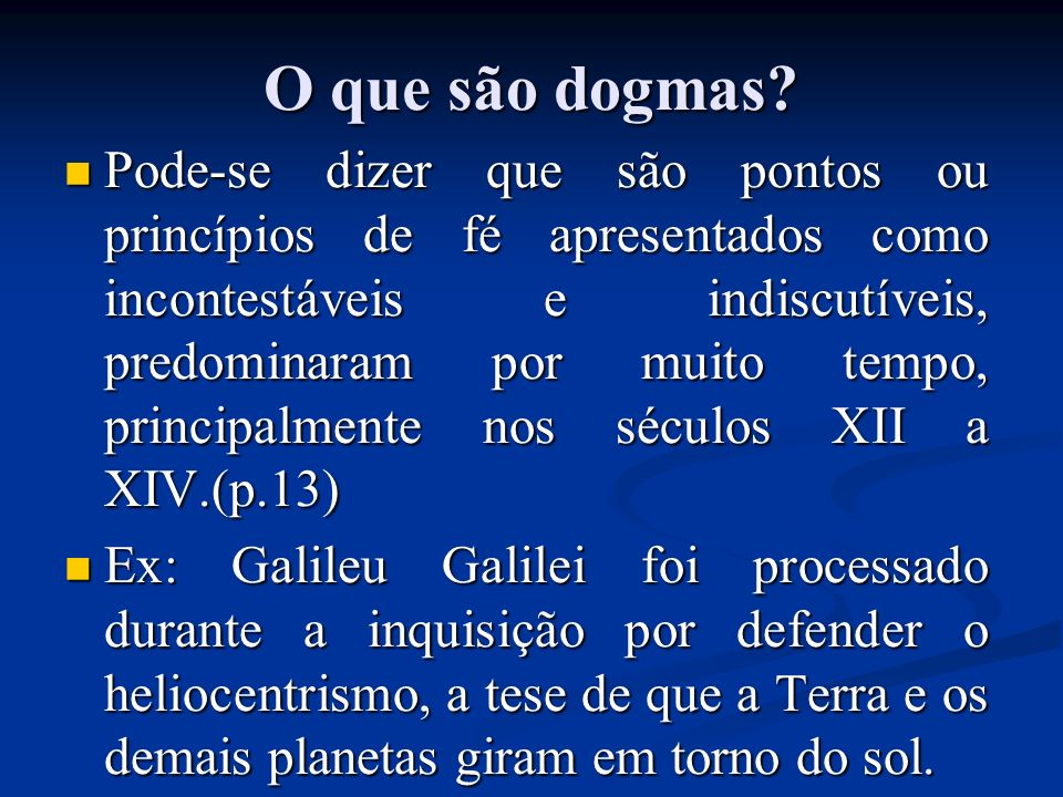 O que são dogmas