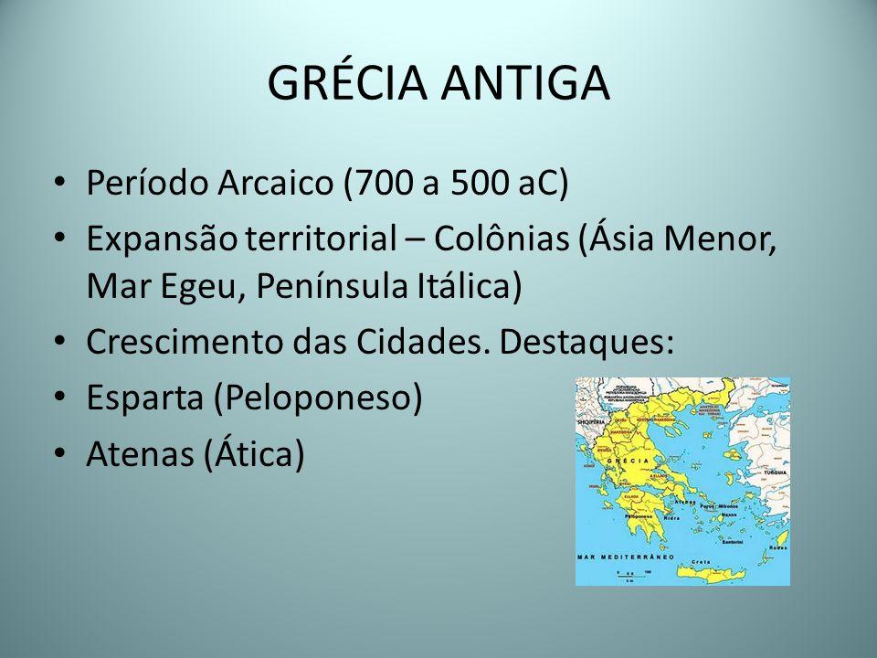 GRÉCIA ANTIGA Período Arcaico (700 a 500 aC)