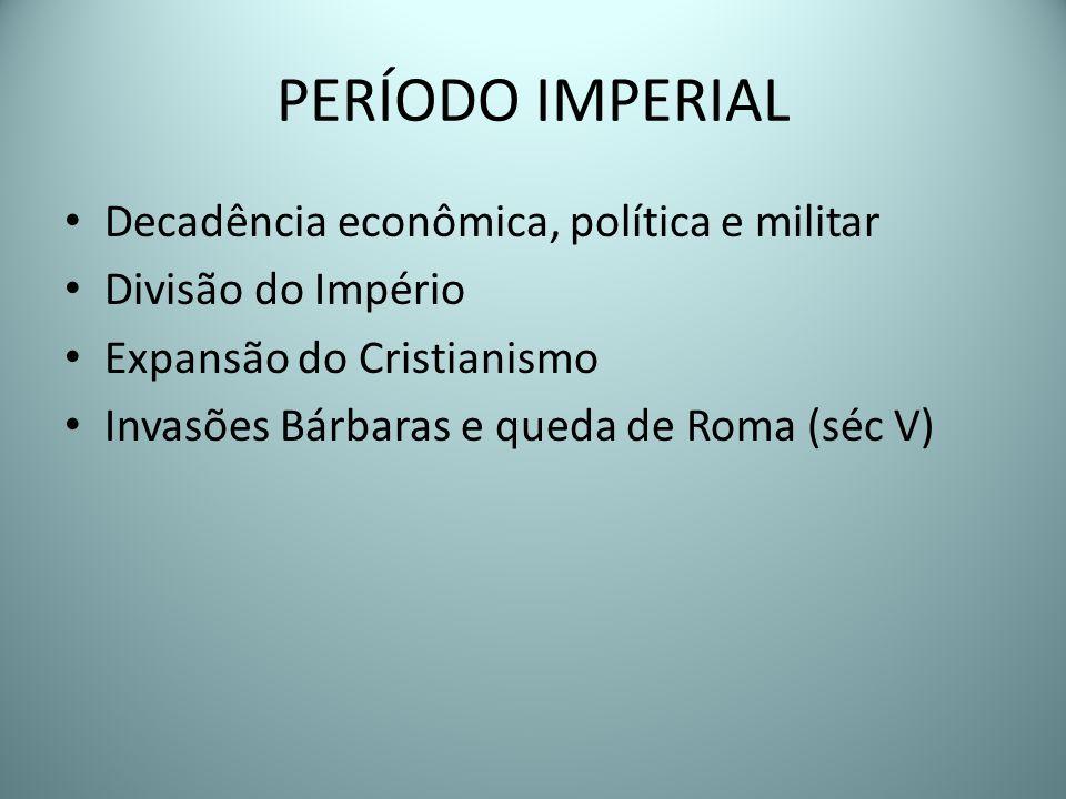 PERÍODO IMPERIAL Decadência econômica, política e militar