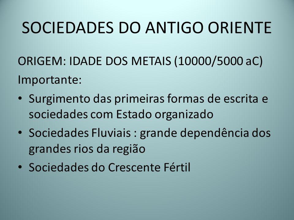 SOCIEDADES DO ANTIGO ORIENTE