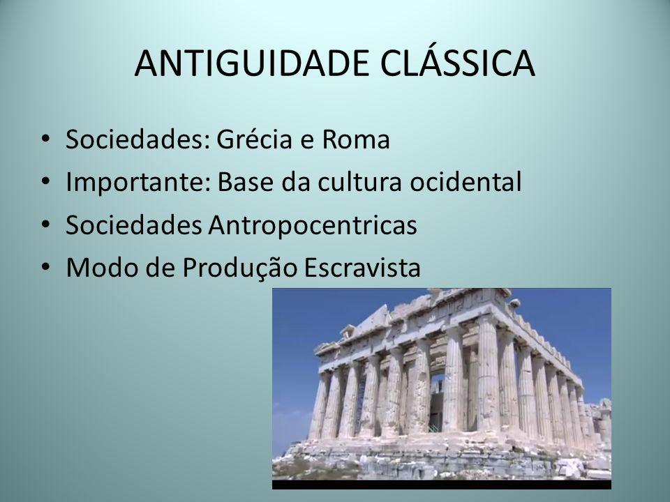 ANTIGUIDADE CLÁSSICA Sociedades: Grécia e Roma