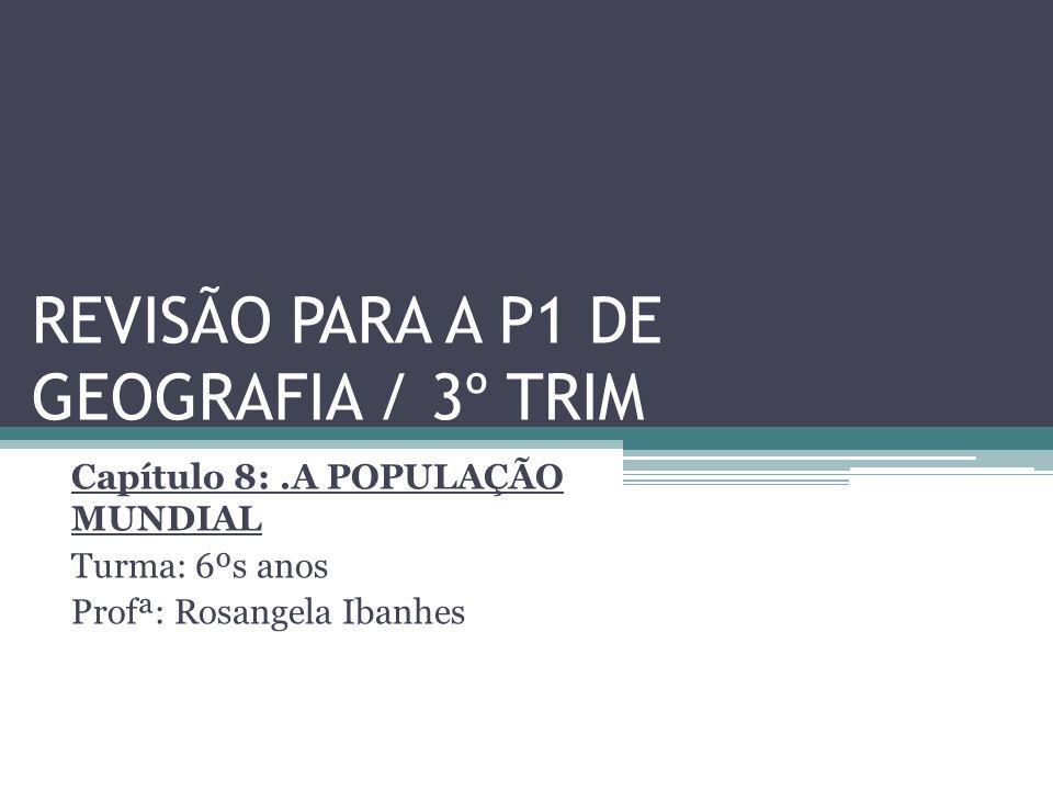 REVISÃO PARA A P1 DE GEOGRAFIA / 3º TRIM