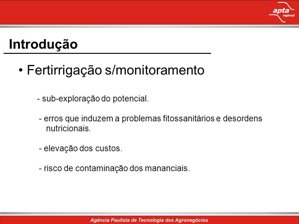 • Fertirrigação s/monitoramento