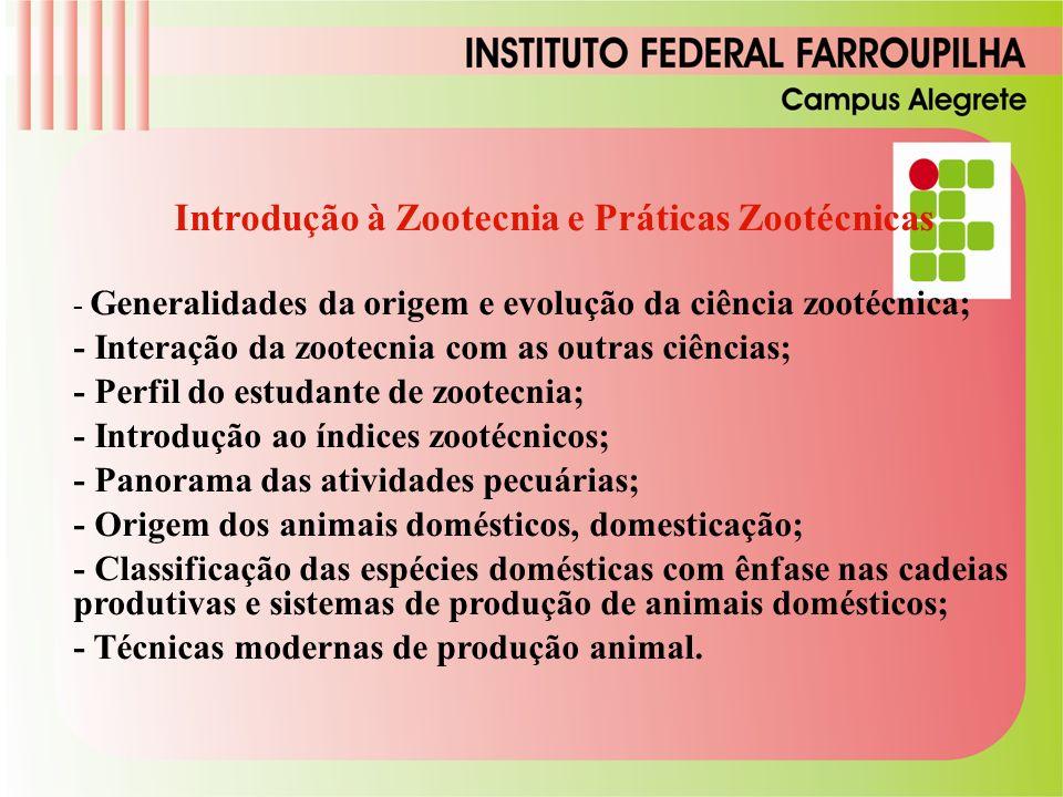 Introdução à Zootecnia e Práticas Zootécnicas