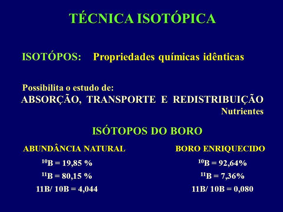 TÉCNICA ISOTÓPICA ISOTÓPOS: Propriedades químicas idênticas