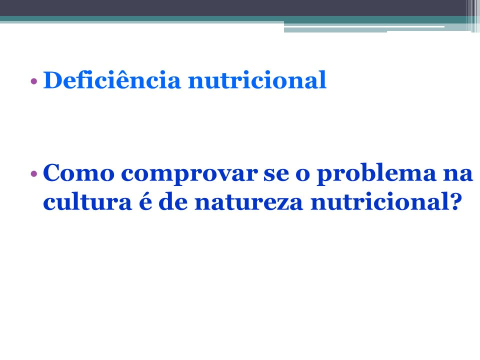 Deficiência nutricional