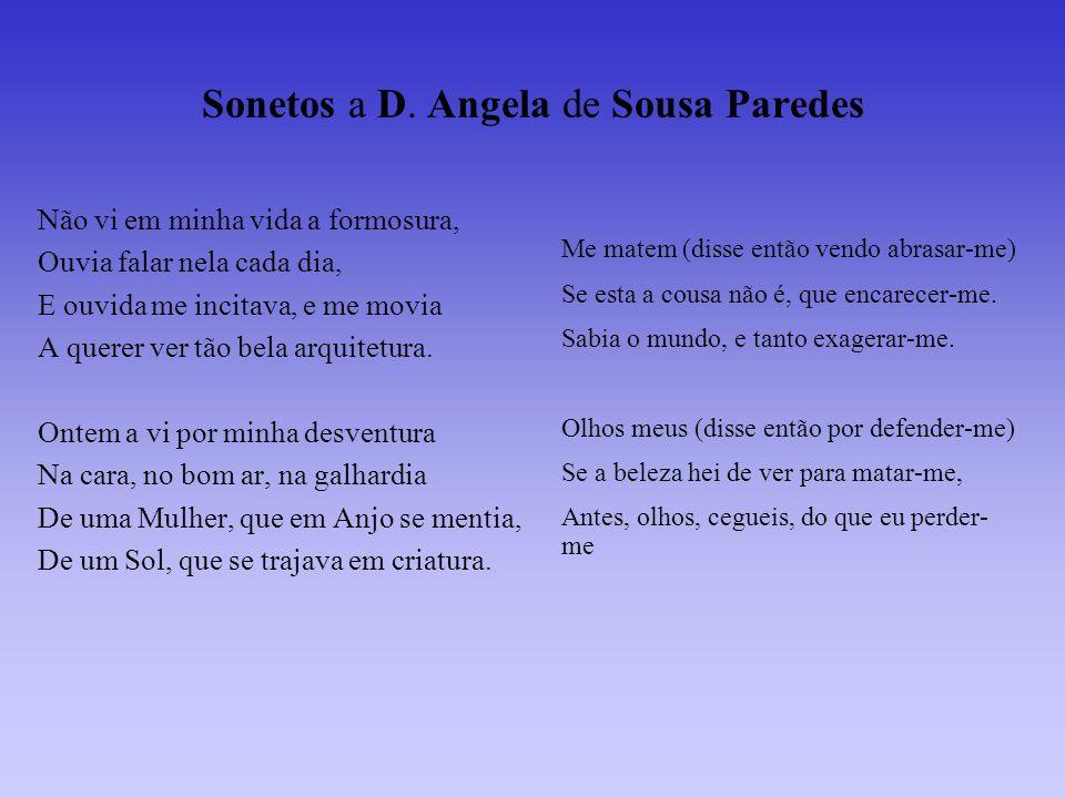 Sonetos a D. Angela de Sousa Paredes