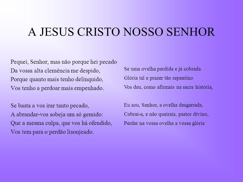 A JESUS CRISTO NOSSO SENHOR
